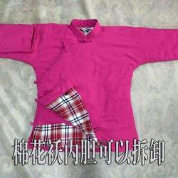 中国风棉袄男中式棉花袄复古连袖大襟传统服装中老年冬季加厚外套