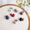 the republic of korea Versatile Pearl Dingkou Emptied Collar button Shawl cardigan Pintle DIY scarf Brooch Brooch Pin