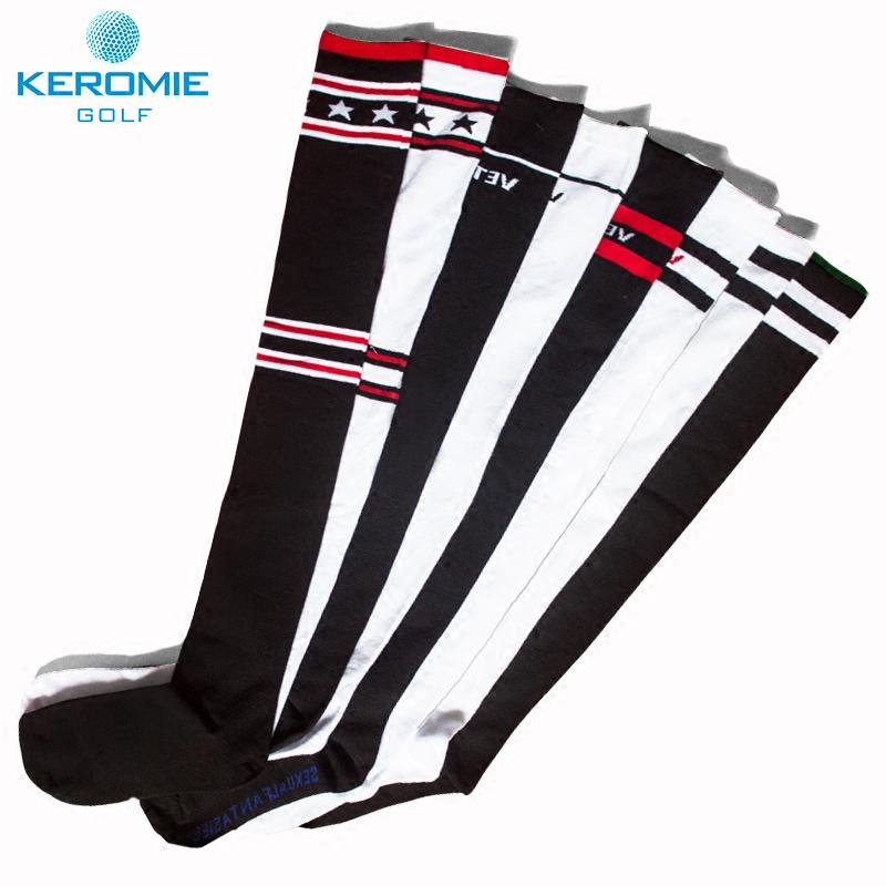 Гольф носки бедро теплый воздухопроницаемый женский длинный носок случайный чулки эрудированный трубка носки полоса спортивные носки