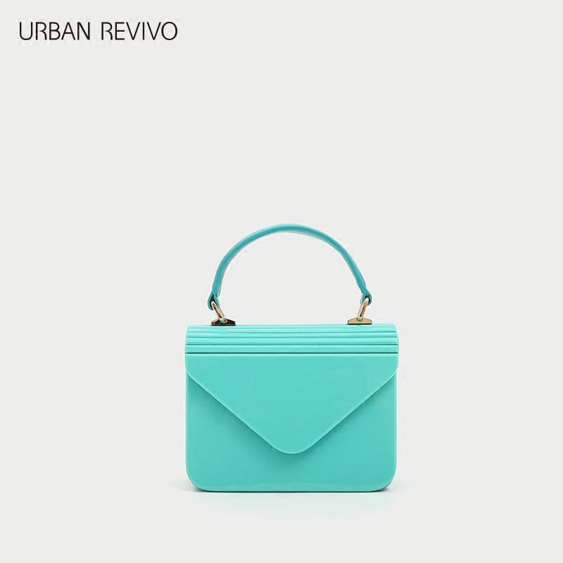 URBAN REVIVO2018夏季新品青春女配�冰淇淋色手提包AV12SB1N2002
