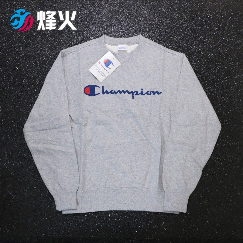 烽火体育 Champion 日版胸前logo休闲圆领卫衣 C3-H004-010 070