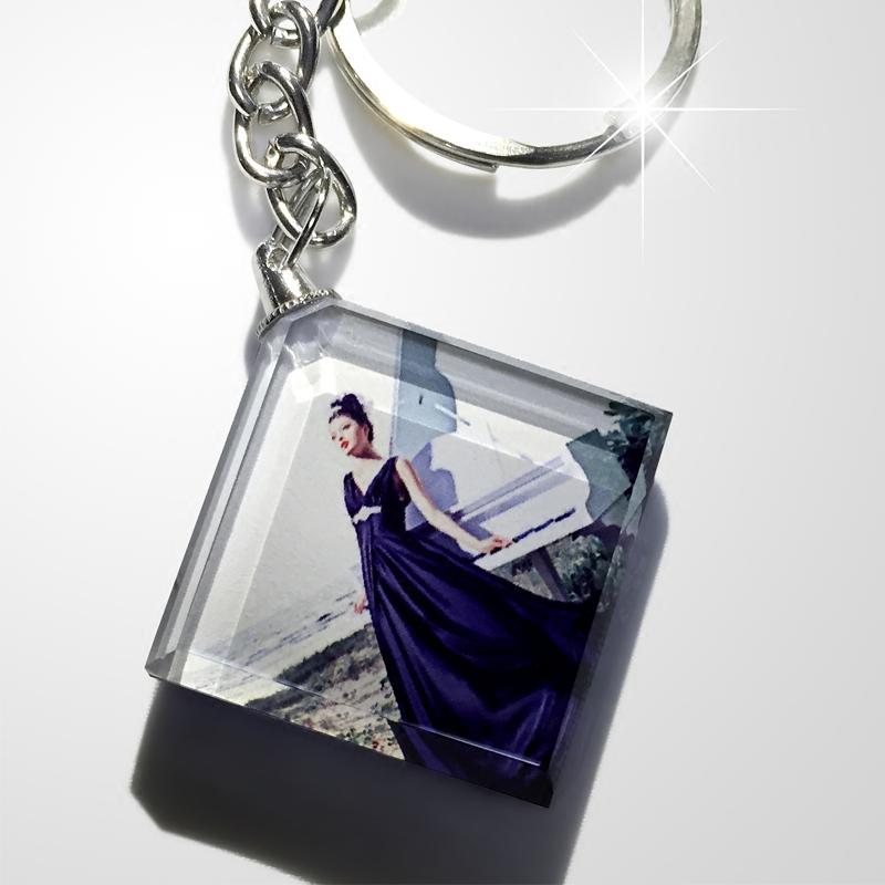 照片钥匙扣个性定制DIY创意生日情侣礼物送男女朋友汽车水晶挂件