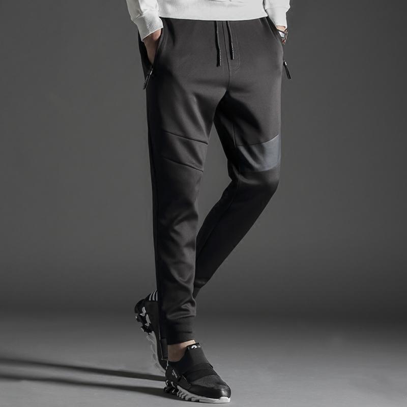 男士休闲裤修身哈伦运动裤韩版潮流裤子小脚卫裤束脚长裤收口