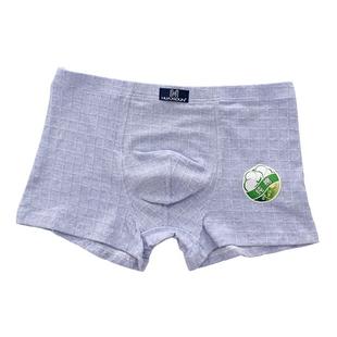 3条装简约男士全棉四角裤青年短裤