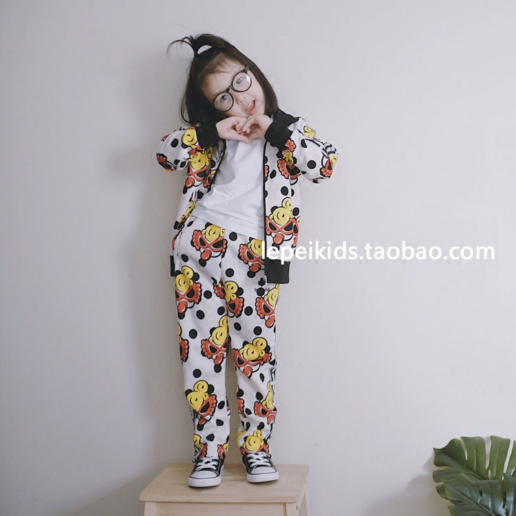 Exclusive customization! Must enter! Trendy from head to toe, super stylish Polka Dot space cotton suit for parents and children