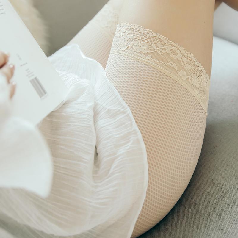 无痕蕾丝安全裤防走光女夏丝薄透气18-24周岁黑色紧身短裤夏季