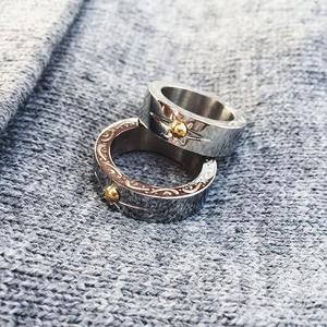 领3元券购买日系潮流民族风手工镶嵌金珠戒指环