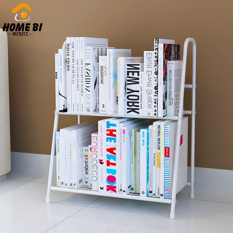 家世比 小書架簡易桌麵上置物架簡約 臥室客廳落地收納架子