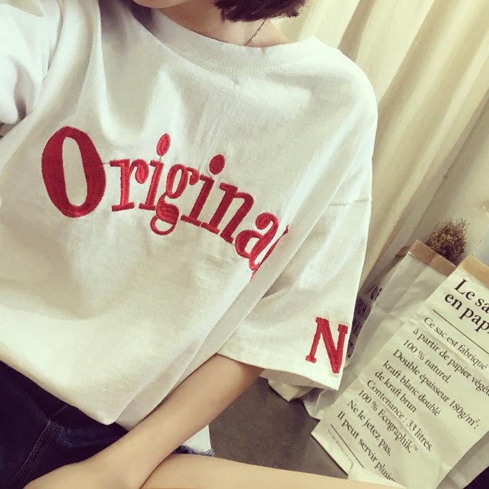 字母 顯瘦百搭學生t恤