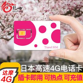 日本旅游电话卡3/4/5/6/7/8天4G达摩DOCOMO手机上网卡无限3G流量图片