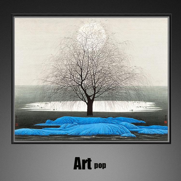 靜夜圖-薛亮風景畫客廳餐廳裝飾畫床頭掛畫板房臥室現代中國油畫