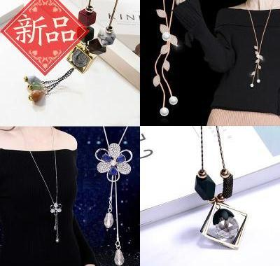 Decorative chain make-up jewelry necklace chest chain clothing accessories f autumn winter versatile short fashion simple accessories pendant