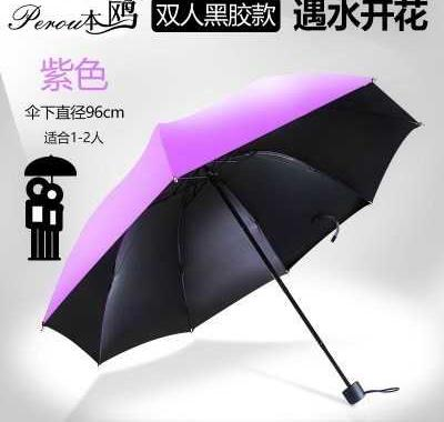 。 Double layer black plastic umbrella for women with printing pattern inside and outside cartoon automatic pattern folding star sky
