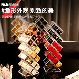 口红收纳盒ins少女心多格子家用大容量网红化妆品唇釉网红置物架图片