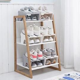 宿舍鞋子整理收纳神器创意双层鞋柜支架省空间家用寝室防尘鞋托