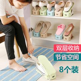 可调节收纳鞋架双层鞋托寝室省空间家用宿舍神器置物拖鞋鞋柜鞋子