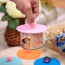 万能罐头盖 防虫碗盖猫粮盖硅胶盖子零食密封盖耐高温硅胶宠物碗图片
