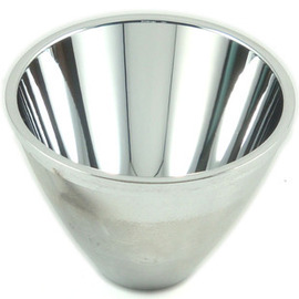 C8 C11强光手电筒金属光面全铝聚光杯LED手电电镀反光灯杯 5-8度图片