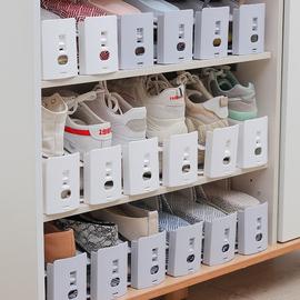 双层收纳鞋架家用可调节鞋托鞋子收纳神器省空间可拆卸鞋柜收纳盒