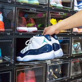 高大上鞋盒纳美嘉AJ鞋盒亚克力透明储物收纳展示抗菌防尘塑料球鞋