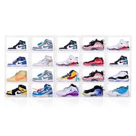 20个装aj鞋盒收纳盒透明防氧化球鞋鞋柜鞋子塑料亚克力网红鞋墙
