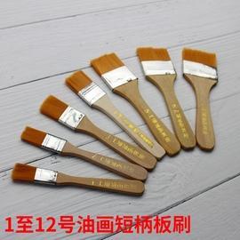 尼龙毛板刷油漆刷软毛清洁用工业刷烧烤除尘水粉小号毛刷短柄排笔图片