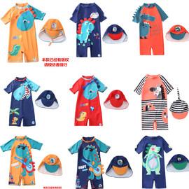 儿童泳衣男童小童连体女童可爱泳装防晒小孩婴幼儿男女宝宝游泳衣图片