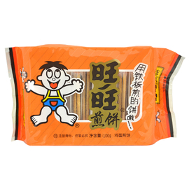 旺旺 煎饼 100g 原味 饼干糕点 休闲零食小点心 礼物图片
