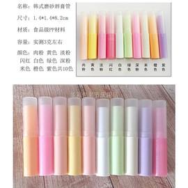 韩式多色唇膏管2.5g DIY自制润唇膏管材料 磨纱管空管 36支包邮图片
