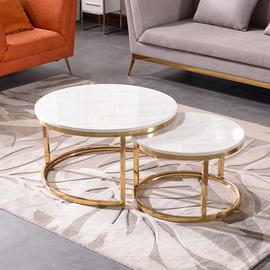 轻奢家用小茶台 小户型折叠沙发床配茶几 简约现代大理石茶桌两用图片