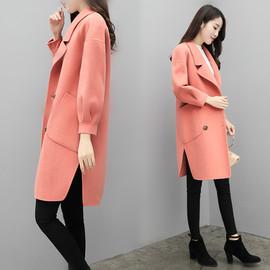 反季呢子大衣女中长款韩版2020秋冬新款宽松茧型小个子毛呢外套女图片