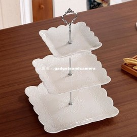 Cake Plate Stand Handle Fitting Hardware Rod Plate holder Go图片