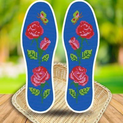 本命年鞋垫十字绣鼠2019年新款绣花鞋垫工自己秀花线手工编织老。