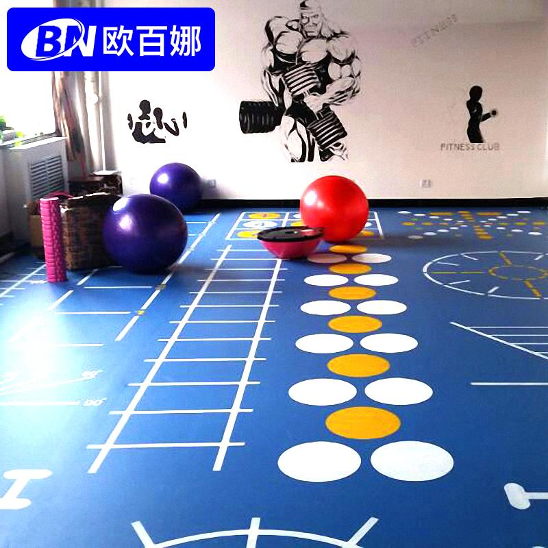 健身房地膠墊 pvc塑膠地板室內 訓練360定製地墊健身私教地膠