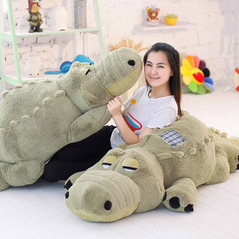 1.8米大型玩偶鱷魚公仔河馬抱枕毛絨玩具1.6米女生布娃娃生日