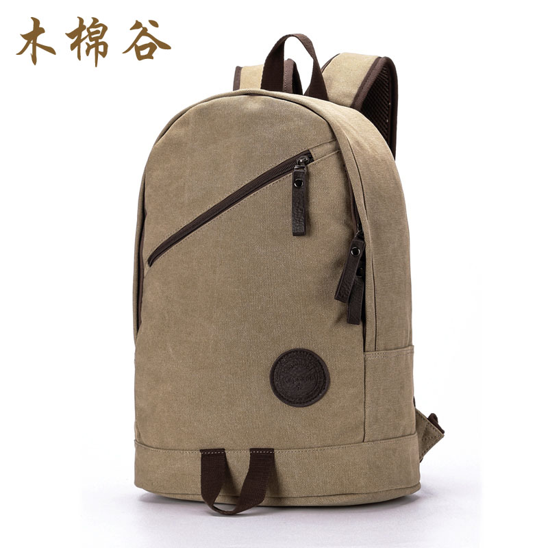 木棉穀男士雙肩包 學生書包旅行包潮流男包電腦包帆布背包