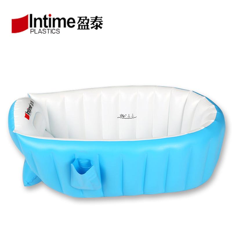 寶寶充氣浴盆加厚保溫新生兒家用室內浴缸遊泳池嬰幼兒小孩洗澡盆