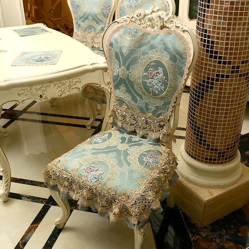歐式餐桌布椅墊椅套子茶幾布藝台布家用椅子墊餐椅套裝訂做四季