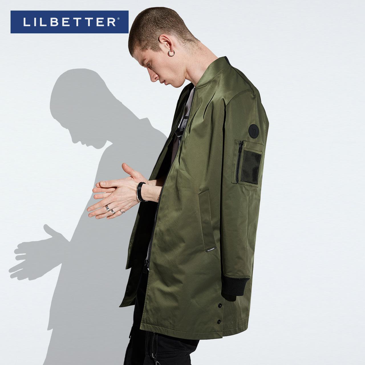 Lilbetter男士風衣 新品中長款軍旅大衣修身型潮牌秋裝外套男