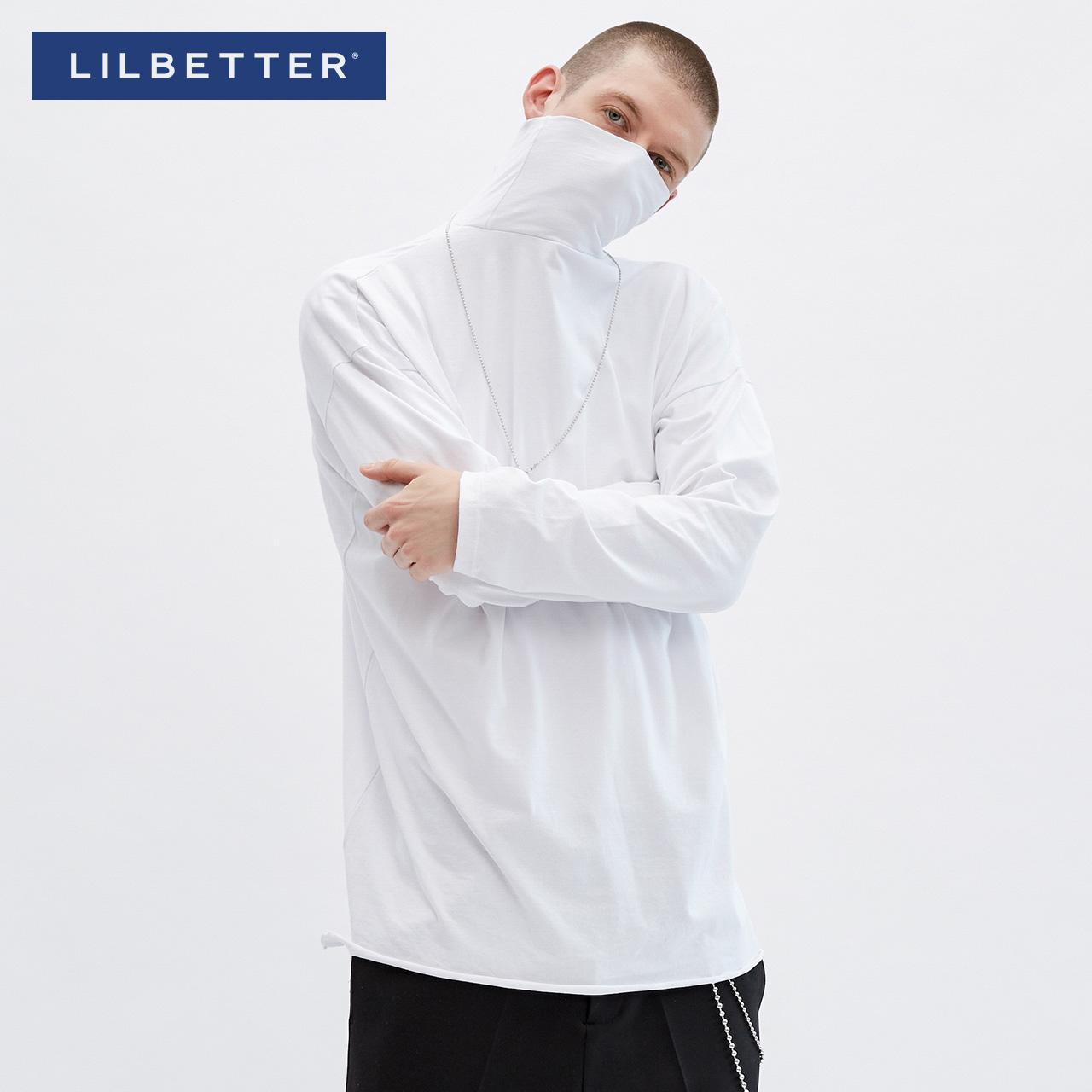 Lilbetter打底衫男春裝長袖T恤高領純色百搭 潮男上衣體恤男LB