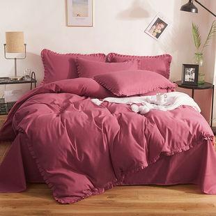 床上四件套被套单件单被罩床单单人双人床上用品学生三件套磨毛