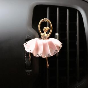 汽车车载出风口香水夹 创意镶钻雪花空调口挂件摆件装饰车用品女