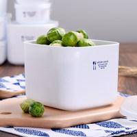 日本家用微波炉专用饭盒便当盒冰箱水果保鲜盒塑料长方形食品盒子 (¥11)