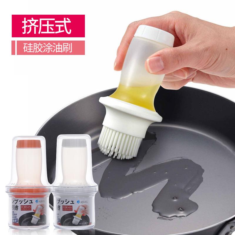 日本ASVEL矽膠油刷耐高溫廚房烘焙刷 燒烤刷食品小刷子烙餅抹油刷