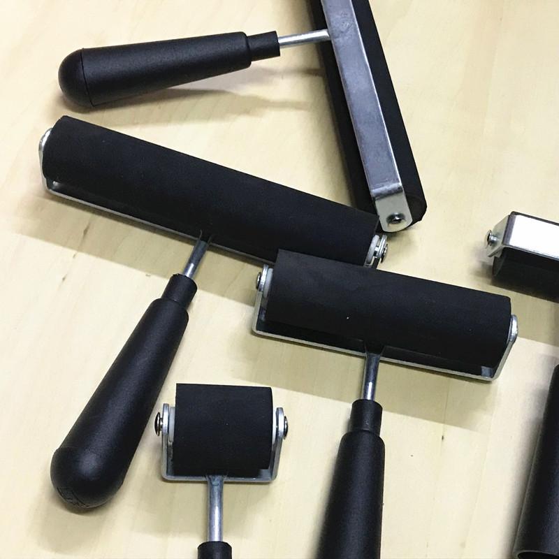 优质版画油墨滚筒3寸4寸6寸8寸橡胶滚轮油墨颜料版画材料拓印工具