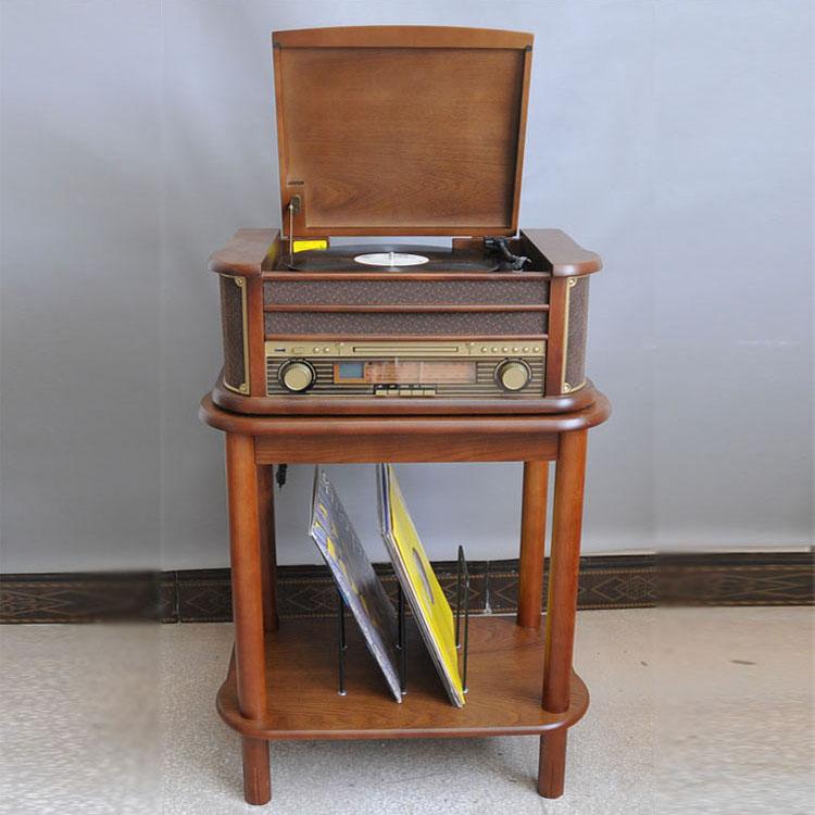 恒信出口留声机仿古LP黑胶唱片机复古电唱机CD机复古收音机磁带机