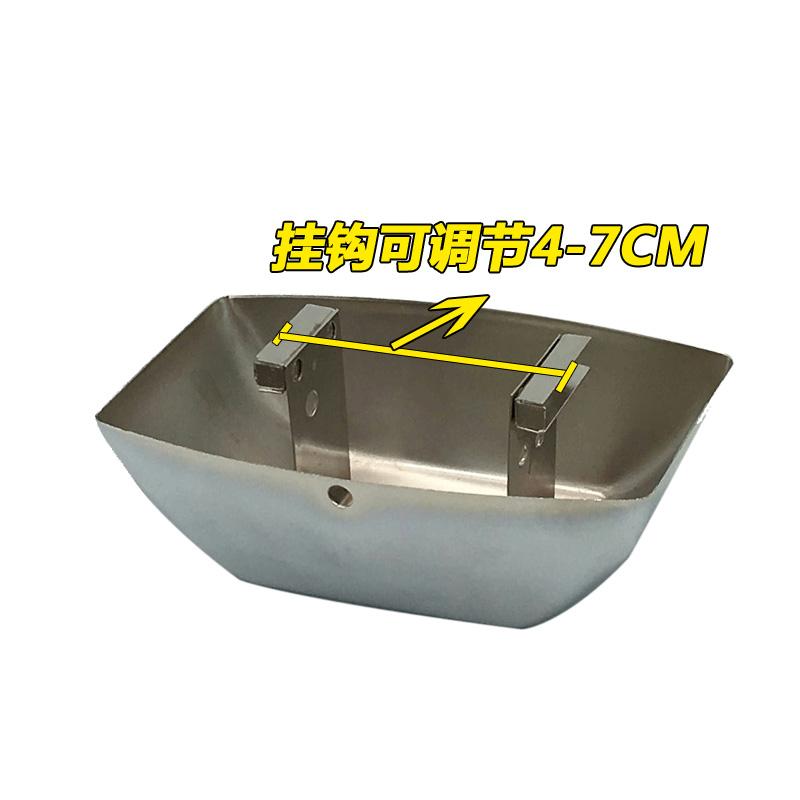 欧式抽油烟机金属油杯通用方形接油盒油烟机油碗油漏油斗油槽配件