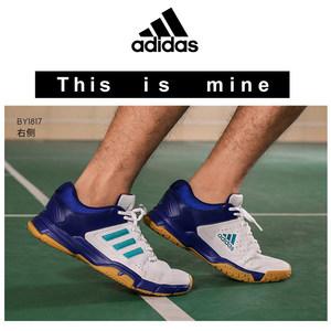 2018新款阿迪达斯羽毛球鞋专业防滑减震款橡胶底排球运动男鞋女鞋