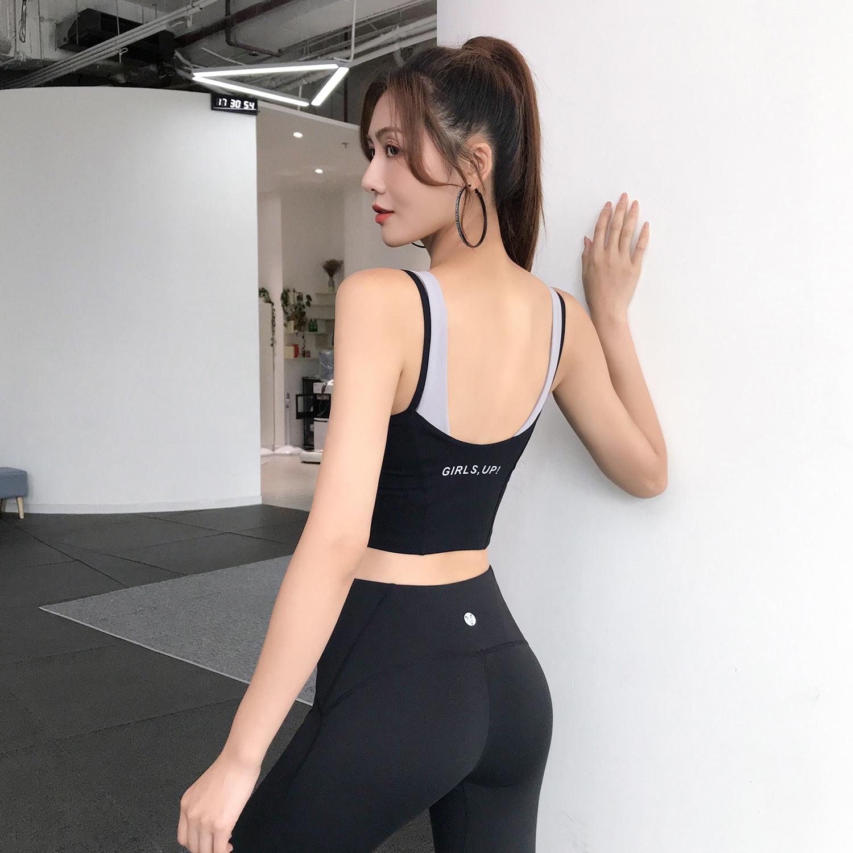唤醒马甲线 运动背心女防震聚拢定型防下垂跑步瑜伽背心健身上衣n