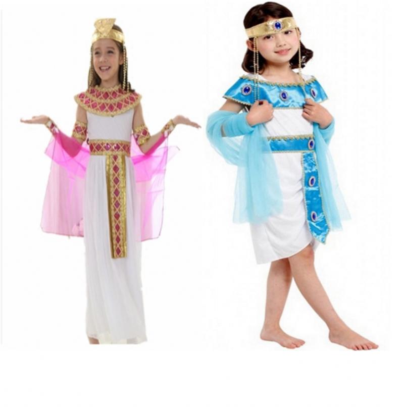 演出服兒童化妝舞會服裝女童埃及豔后女王公主裙皇后服飾王子服裝